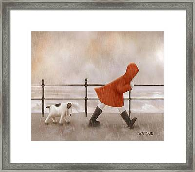 Dog Walk Framed Print