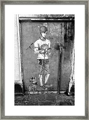 Dog Walker In Venice Framed Print