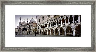 Doge's Palace And Basilica San Marco Framed Print
