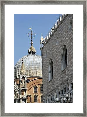 Doges Palace And San Marco Basilica Framed Print by Sami Sarkis
