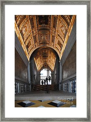 Doges Palace Entry Framed Print by Jacqueline M Lewis