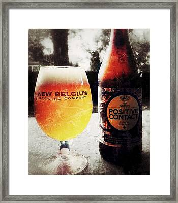 Dogfish Head Positive Contact Framed Print by Kyle Vick