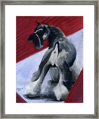 Doggie Butt Framed Print by Christine Winship
