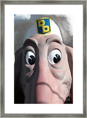 Doggie Diner Dog - 5d20940 Framed Print by Wingsdomain Art and Photography