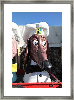 Doggie Diner Dog - Blue Bow Tie - 5d20936 Framed Print by Wingsdomain Art and Photography