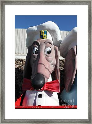Doggie Diner Dog - Red Bow Tie - 5d20934 Framed Print by Wingsdomain Art and Photography