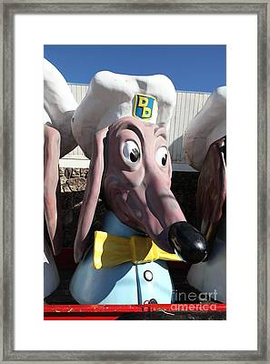 Doggie Diner Dog - Yellow Bow Tie - 5d20935 Framed Print by Wingsdomain Art and Photography