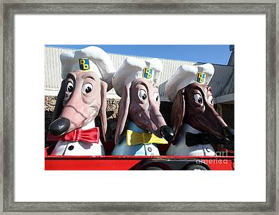 Doggie Diner Dogs - 5d20931 Framed Print by Wingsdomain Art and Photography