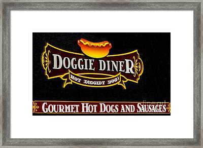Doggie Diner Framed Print by Mitch Shindelbower