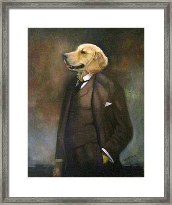 Doggone Executive Framed Print