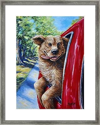 Dog...gone Happy Framed Print