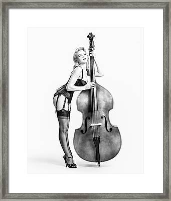 Framed Print featuring the photograph Doghouse With Mosh - String Bass Baby   by Gary Heller