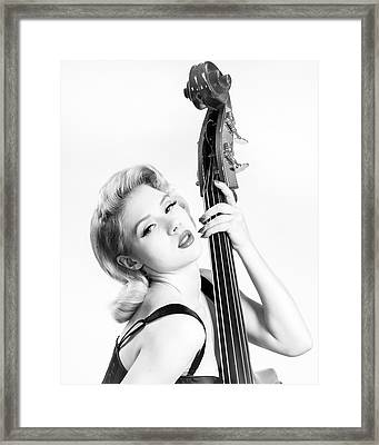 Doghouse Portrait Of Mosh - Double Bass Framed Print by Gary Heller