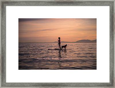 Dogs Are Not Our Whole Life But They Make Our Lives Whole Framed Print by Eti Reid