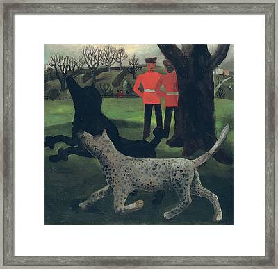 Dogs At Play Framed Print by Christopher Wood