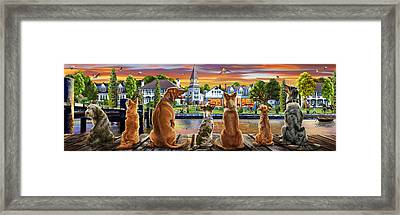 Dogs On The Quay Variant 1 Framed Print