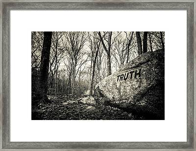 Dogtown Rocks With Inspirational Word Framed Print by Panoramic Images