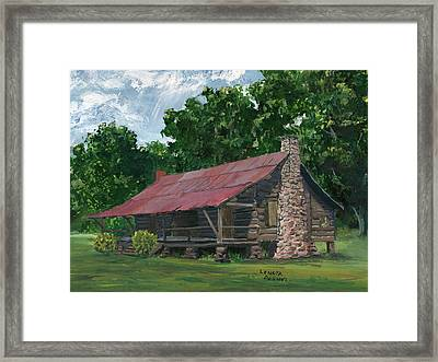 Dogtrot House In Louisiana Framed Print by Lenora  De Lude