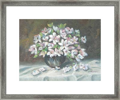 Dogwood Buquet Framed Print