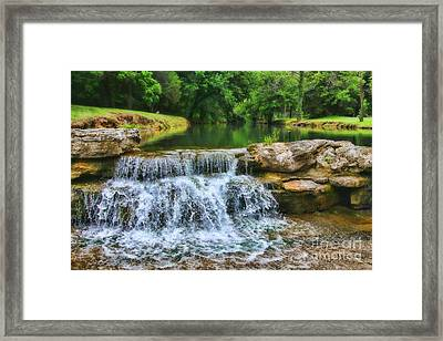 Dogwood Canyon Falls Framed Print