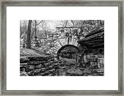 Dogwood Canyon Stone Bridge Framed Print by David Waldo