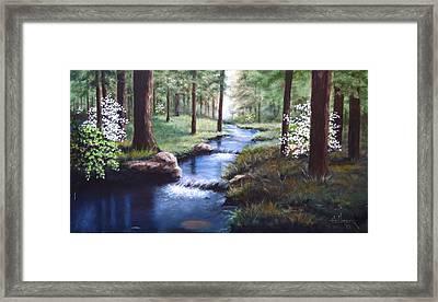 Dogwood Creek Framed Print by Bob Hallmark