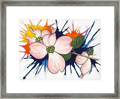 Dogwood Flowers Framed Print by Nora Blansett