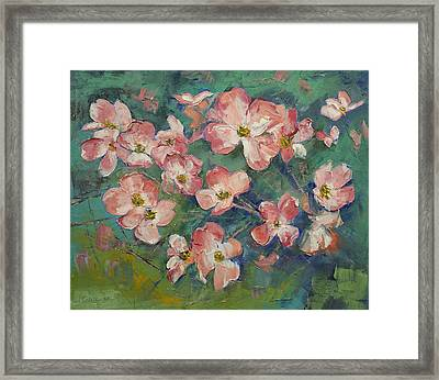 Dogwood Framed Print by Michael Creese