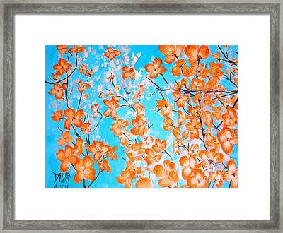 Dogwoods Framed Print by Donna Dixon