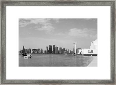 Doha Bay Dec 26 2012 Framed Print by Paul Cowan
