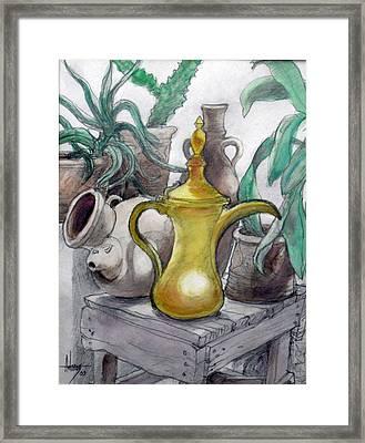 Doha Coffee Urn Framed Print by Jack Adams