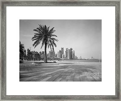 Doha Corniche April 2013 Framed Print by Paul Cowan