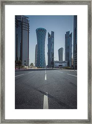 Doha Road Framed Print by Charlie Tash