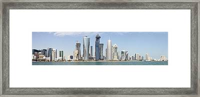 Doha Towers In 2013 Framed Print by Paul Cowan