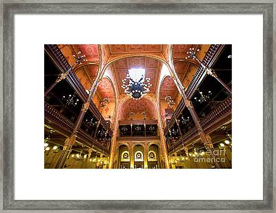 Dohany Synagogue In Budapest Framed Print by Madeline Ellis