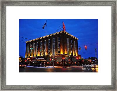 Doherty Hotel At Christmas Framed Print by Terri Gostola
