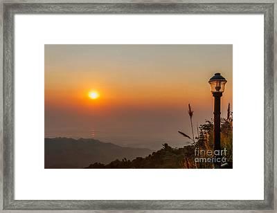 Doi Tung Sunset Framed Print