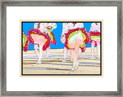 Doing The Can-can Framed Print by Betty LaRue