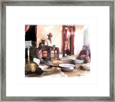 Framed Print featuring the digital art Doing The Laundry by Bob Salo
