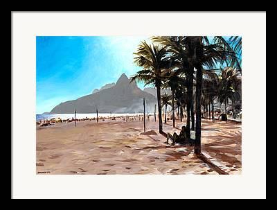 Ipanema Beach Framed Prints