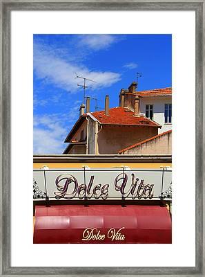 Dolce Vita Cafe In Saint-raphael France Framed Print