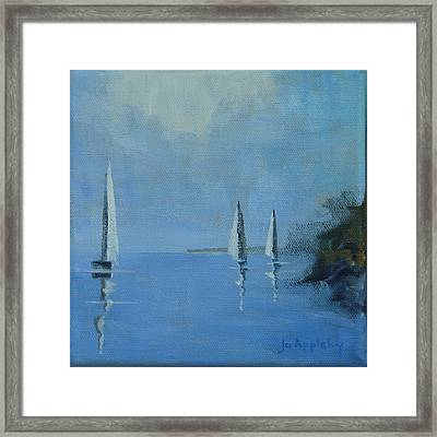 Framed Print featuring the painting Doldrums by Jo Appleby