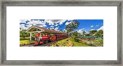 Dole Plantation Train 3 To 1 Aspect Ratio Framed Print