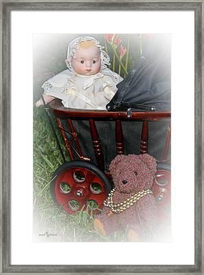 Doll And Teddy Framed Print