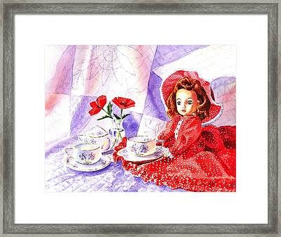 Doll At The Tea Party  Framed Print