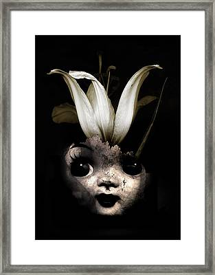 Doll Flower Framed Print by Johan Lilja