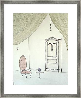 Doll House Interior Framed Print by Christine Corretti