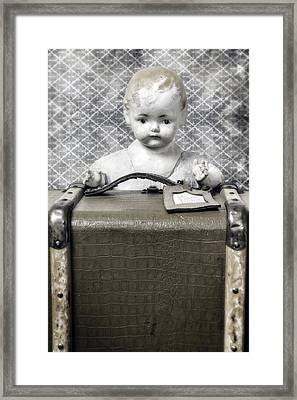 Doll In Suitcase Framed Print by Joana Kruse