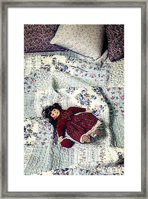 Doll On Bed Framed Print by Joana Kruse