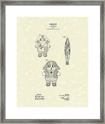 Doll Patent Art Framed Print